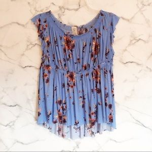 Free People We the Free Sam Floral Top Size Small
